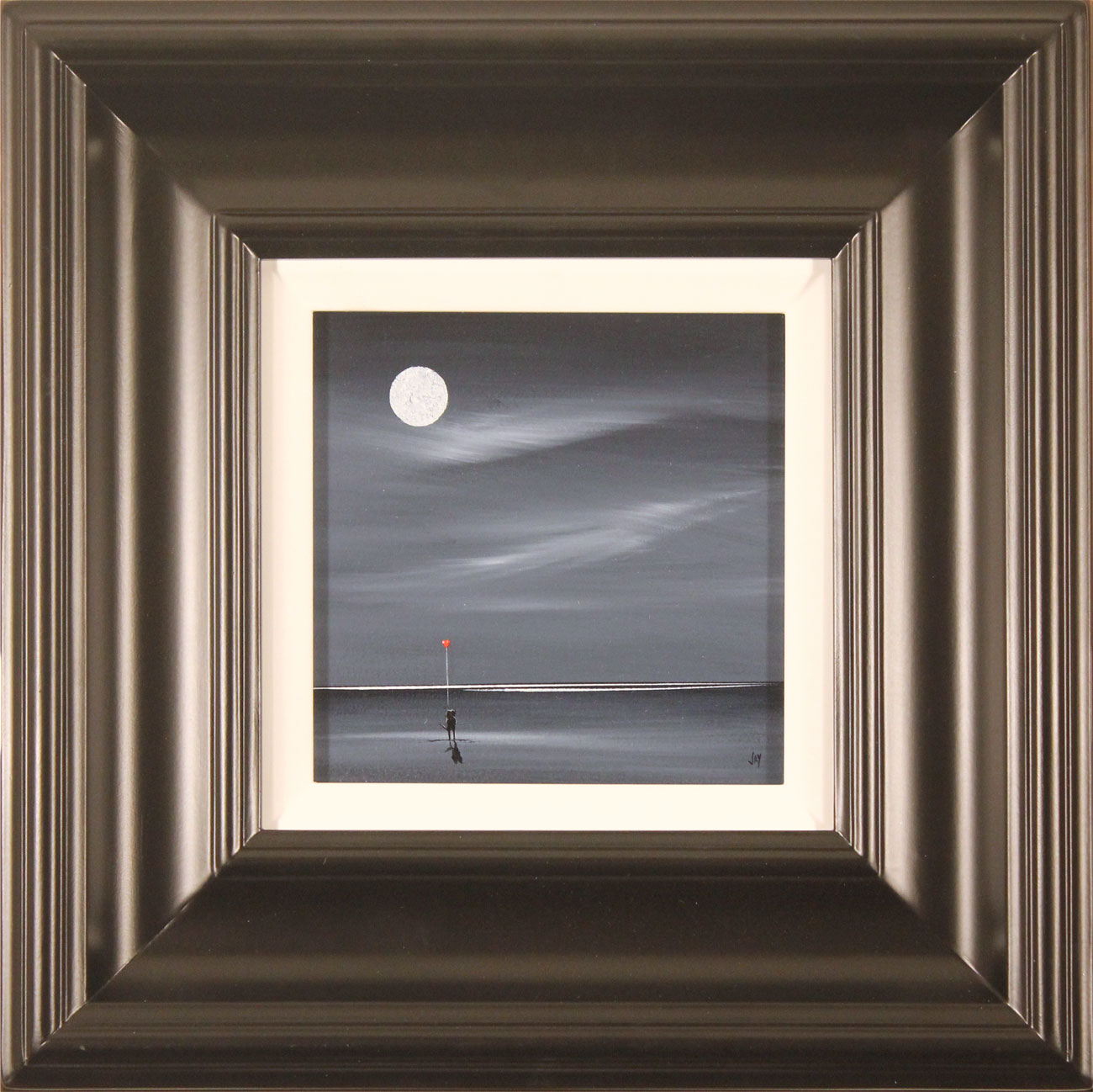 Jay Nottingham, Original oil painting on panel, Moonlight Sweethearts Click to enlarge