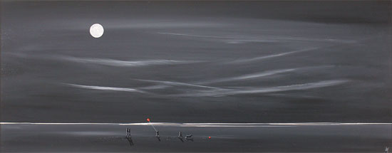 Jay Nottingham, Original oil painting on panel, Moonlight Adventure No frame image. Click to enlarge