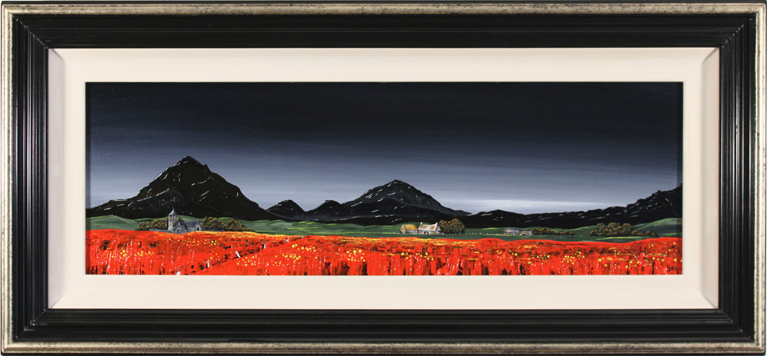 Jay Nottingham, Original oil painting on panel, Poppy Fields Click to enlarge