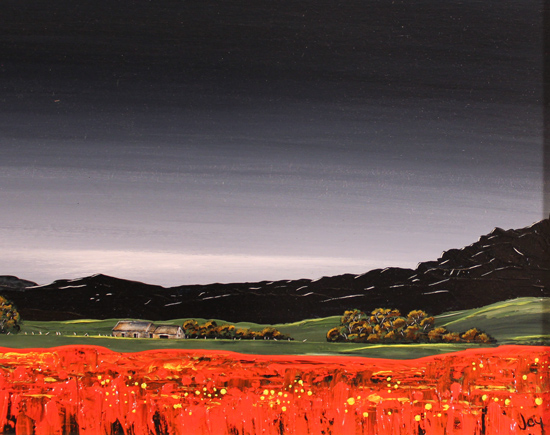 Jay Nottingham, Original oil painting on panel, Poppy Fields Signature image. Click to enlarge