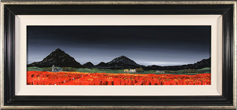Jay Nottingham, Original oil painting on panel, Poppy Fields
