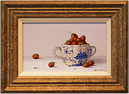 Johannes Eerdmans, Original oil painting on panel, Fruit in Bowl