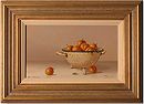 Johannes Eerdmans, Original oil painting on panel, Plums in Colander