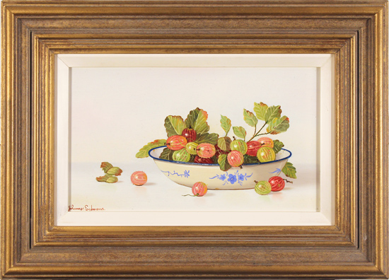 Johannes Eerdmans, Original oil painting on panel, Berries