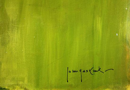 John Haskins, Original oil painting on panel, Onto the Fairway Signature image. Click to enlarge
