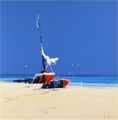 John Horsewell, Original acrylic painting on board, Azure Shores