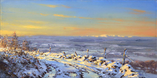 Julian Mason, Original oil painting on canvas, Winter Light No frame image. Click to enlarge