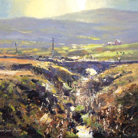 Julian Mason, Original oil painting on canvas, Goldstitch Moss No frame image. Click to enlarge