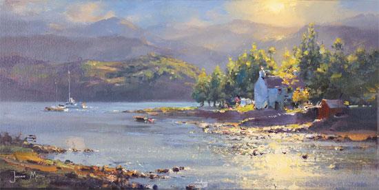 Julian Mason, Original oil painting on canvas, Dry Island, Badachro No frame image. Click to enlarge