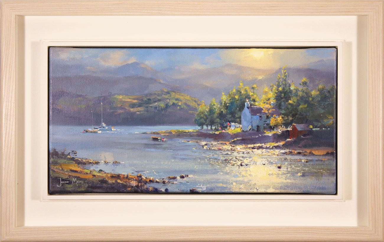 Julian Mason, Original oil painting on canvas, Dry Island, Badachro Click to enlarge