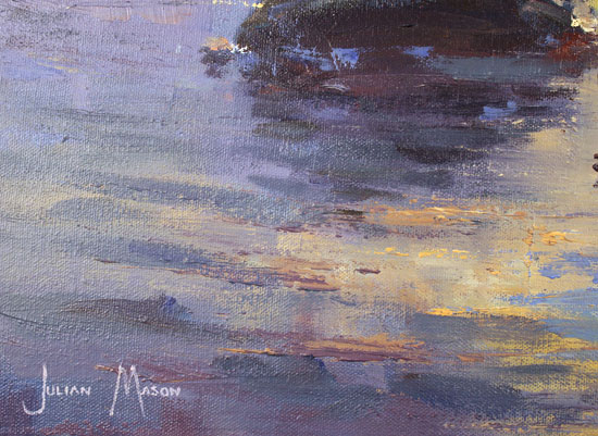 Julian Mason, Original oil painting on canvas, Moorland Evening, Stanage Signature image. Click to enlarge