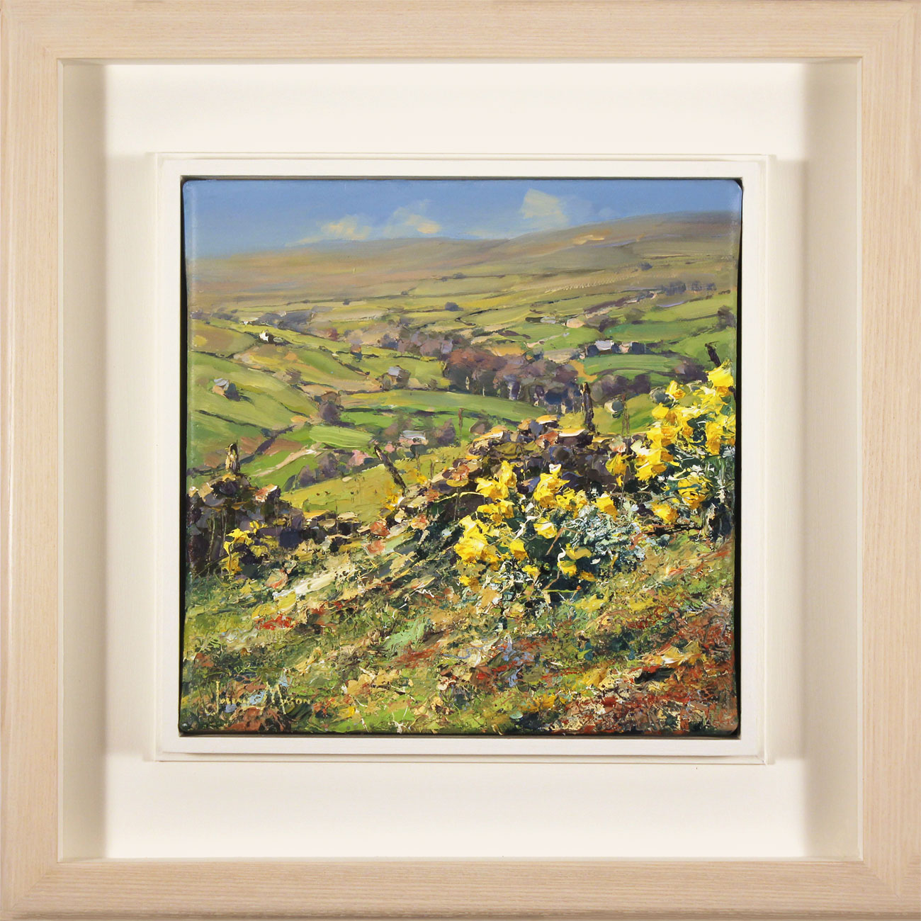 Julian Mason, Original oil painting on canvas, Spring, Middlesmoor Click to enlarge