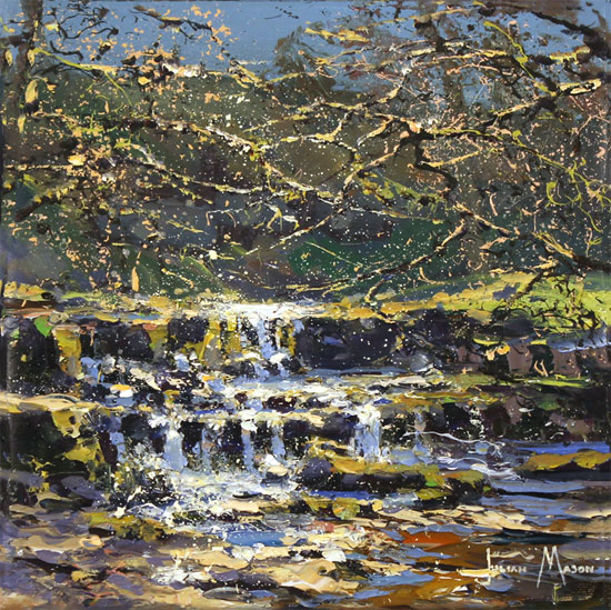 Julian Mason, Original oil painting on canvas, How Stean, Nidderdale No frame image. Click to enlarge
