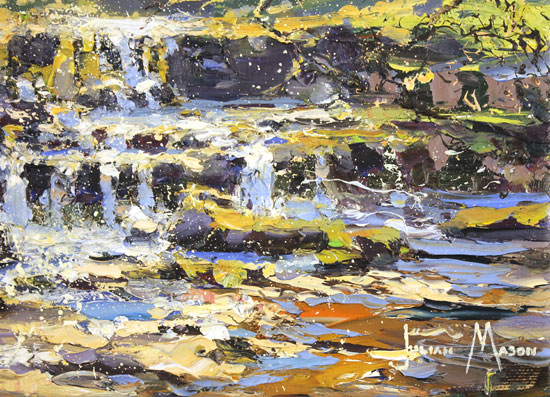 Julian Mason, Original oil painting on canvas, How Stean, Nidderdale Signature image. Click to enlarge