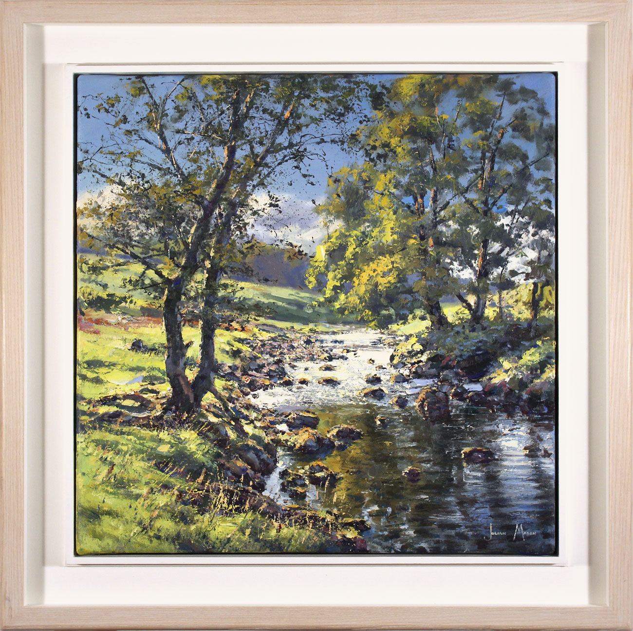 Julian Mason, Original oil painting on canvas, Dales Way, Langstrothdale Click to enlarge