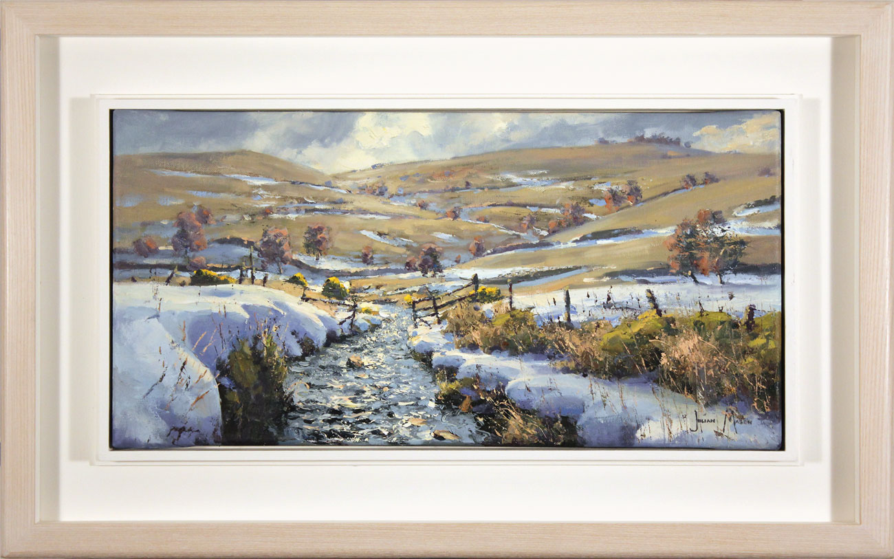 Julian Mason, Original oil painting on canvas, Last Days of Winter, Clough Brook Click to enlarge