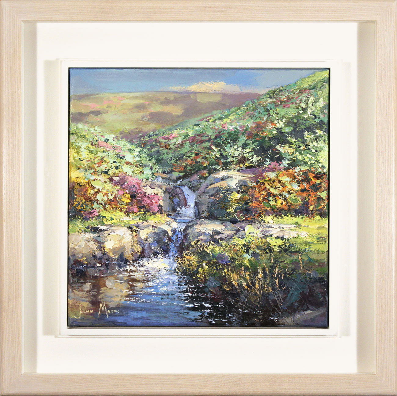 Julian Mason, Original oil painting on canvas, Highshaw Clough Click to enlarge