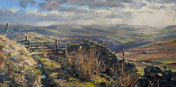 Julian Mason, Original oil painting on canvas, Danebower Views Medium image. Click to enlarge