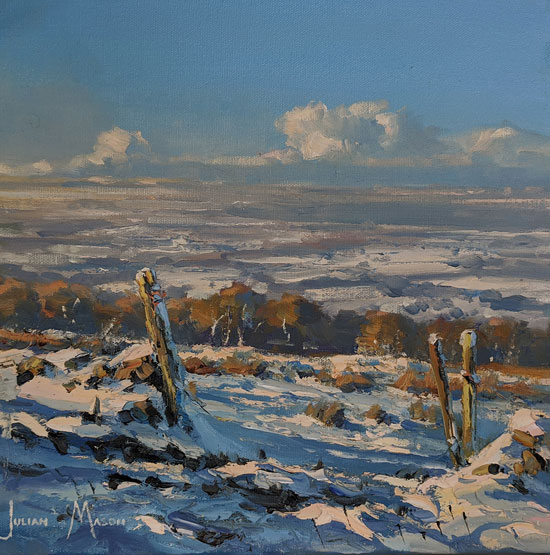Julian Mason, Original oil painting on canvas, Snowfields No frame image. Click to enlarge