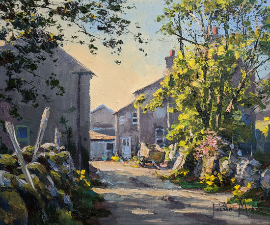 Julian Mason, Original oil painting on canvas, Spring at Beckermonds No frame image. Click to enlarge