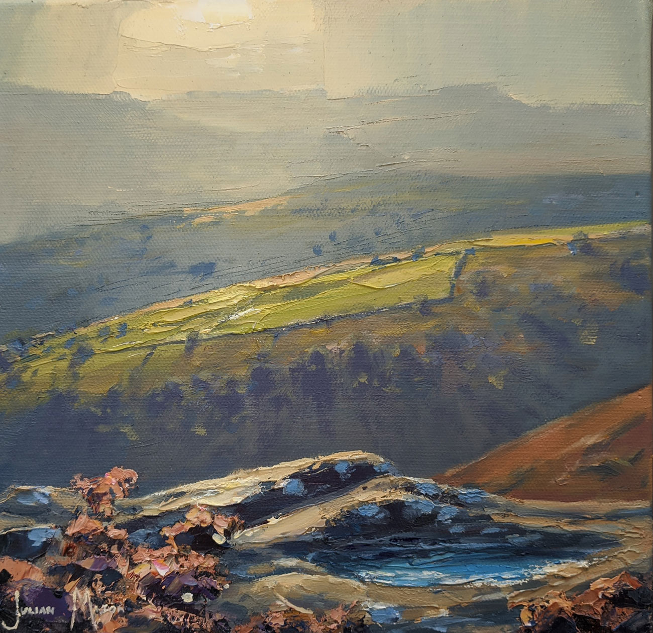 Julian Mason, Original oil painting on canvas, Grouse Pool, Derwent Edge Click to enlarge