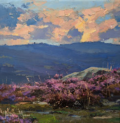Julian Mason, Original oil painting on canvas, Bamford Heather Medium image. Click to enlarge