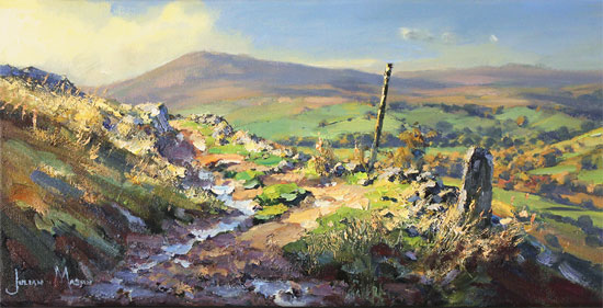 Julian Mason, Original oil painting on canvas, Gradbach from Turn Edge  No frame image. Click to enlarge
