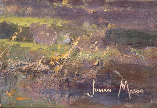 Julian Mason, Original oil painting on canvas, Gradbach from Turn Edge  Signature image. Click to enlarge