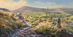 Julian Mason, Original oil painting on canvas, Gradbach from Turn Edge
