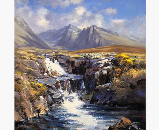 Julian Mason, Allt Coire Lagan, Skye, Original oil painting on canvas