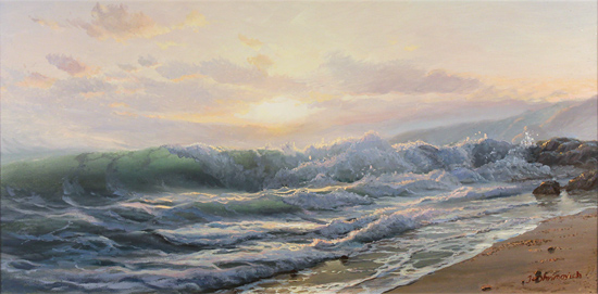 Juriy Ohremovich, Original oil painting on canvas, Along the Shoreline No frame image. Click to enlarge