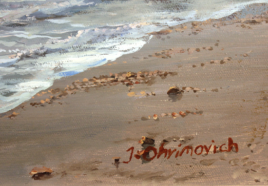 Juriy Ohremovich, Original oil painting on canvas, Along the Shoreline Signature image. Click to enlarge