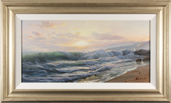 Juriy Ohremovich, Original oil painting on canvas, Along the Shoreline