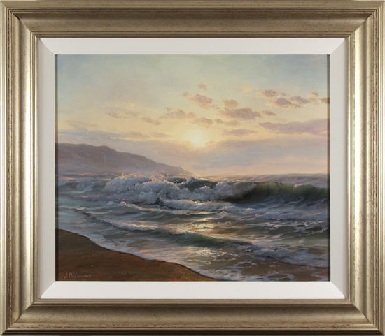 Juriy Ohremovich, Original oil painting on canvas, Sunrise