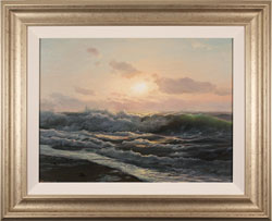 Juriy Ohremovich, Original oil painting on canvas, Breaking Waves