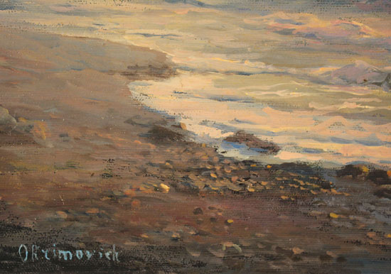 Juriy Ohremovich, Original oil painting on canvas, Evening Tides