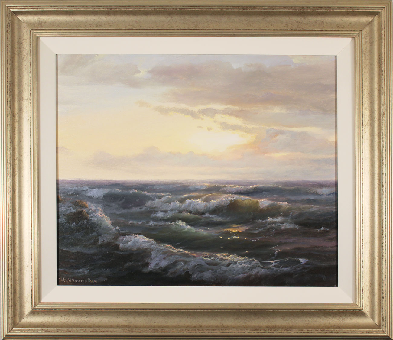 Juriy Ohremovich, Original oil painting on canvas, Sunrise Tides Click to enlarge