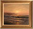 Juriy Ohremovich, Original oil painting on canvas, Evening Beach