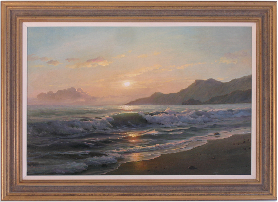 Juriy Ohremovich, Original oil painting on canvas, Beach Scene Click to enlarge