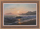 Juriy Ohremovich, Original oil painting on canvas, Beach Scene