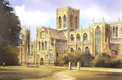 Ken Burton, Watercolour, York Minster