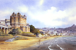 Ken Burton, Watercolour, Scarborough, Yorkshire