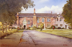 Ken Burton, Watercolour, Kings Manor, York