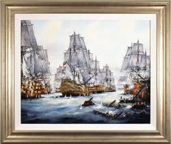 Ken Hammond, Original oil painting on canvas, Battle of Trafalgar, 1805