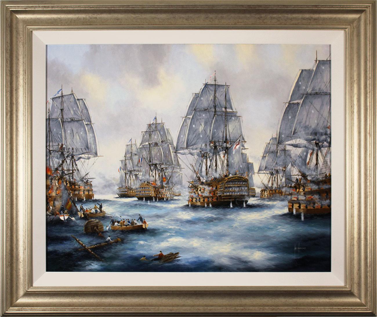 Ken Hammond, Original oil painting on canvas, Battle of Trafalgar Click to enlarge