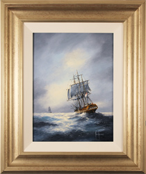 Ken Hammond, Original oil painting on panel, The Chase Medium image. Click to enlarge
