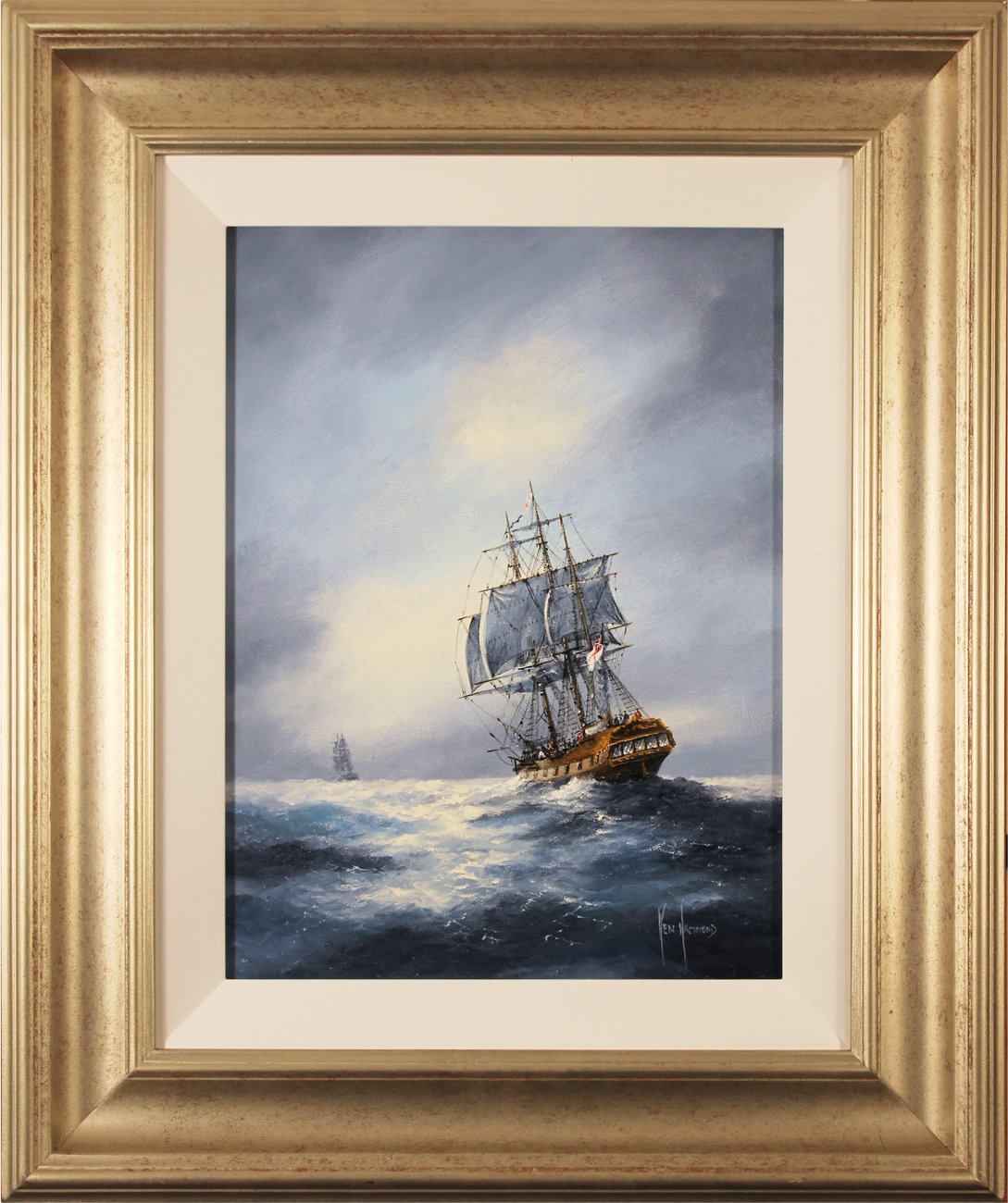 Ken Hammond, Original oil painting on panel, The Chase Click to enlarge