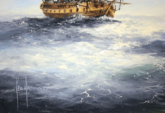 Ken Hammond, Original oil painting on panel, High Seas Signature image. Click to enlarge