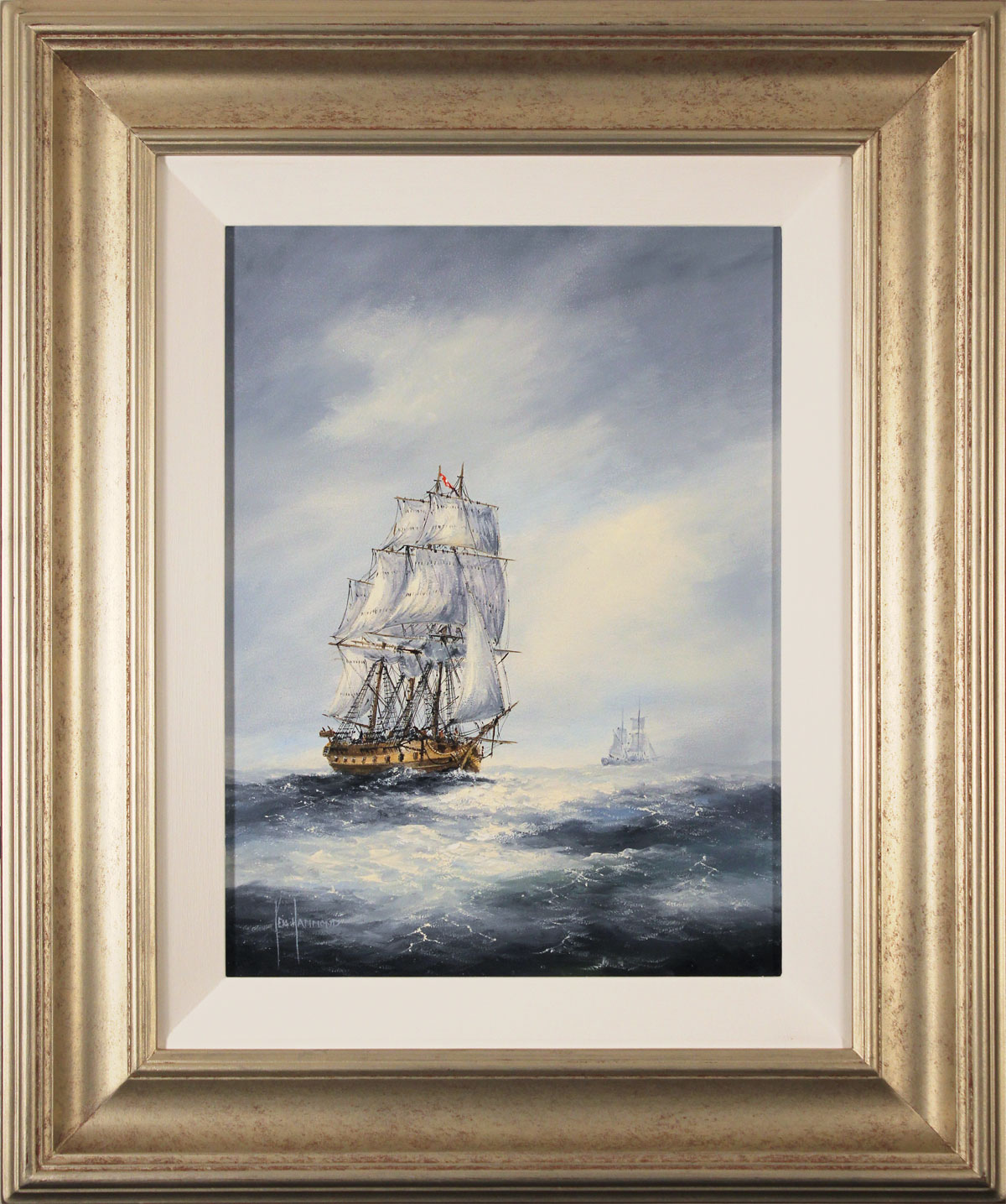 Ken Hammond, Original oil painting on panel, High Seas Click to enlarge