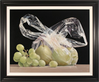 Ken Mckie, Original oil painting on canvas, Grapes and Pears